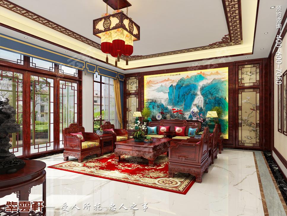 天津市高颜值的别墅中式装修