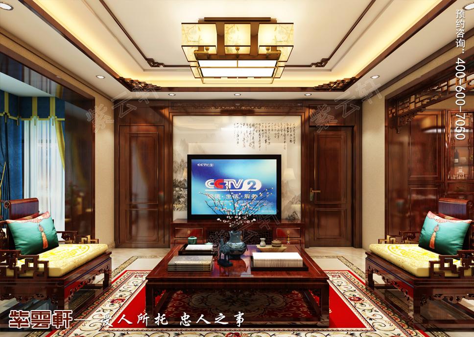 赤峰市别墅中式装修 纯粹的中国风