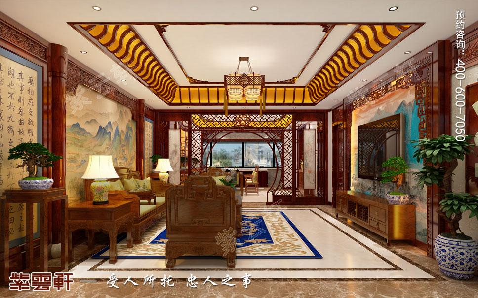最美东方意境——唐山市别墅中式装修