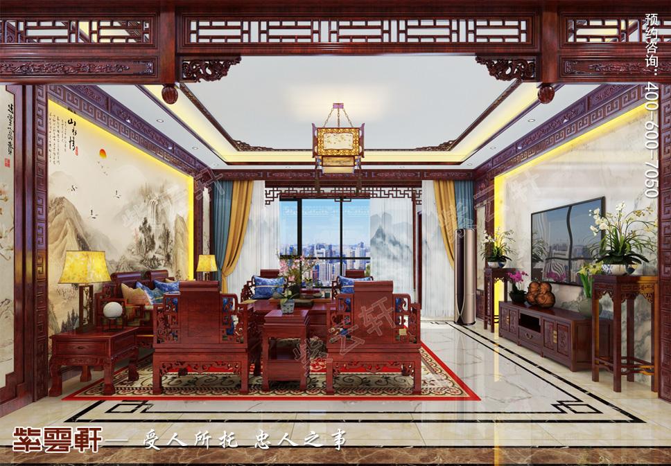 最高明的画家——长春市别墅中式装修