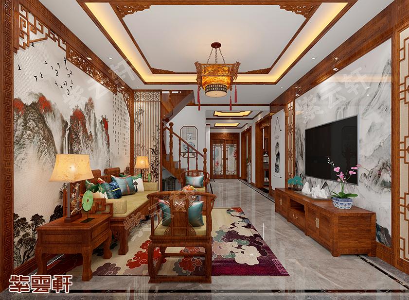 吉林白城市350平中式装修,文雅大气好高级呀!!