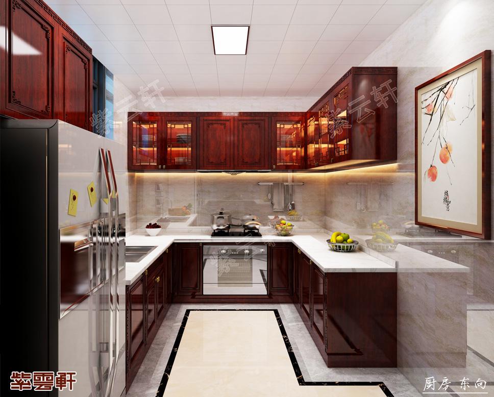 仿古装修厨房