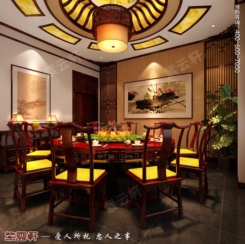 古典中式装修设计私人会所餐厅包间效果图