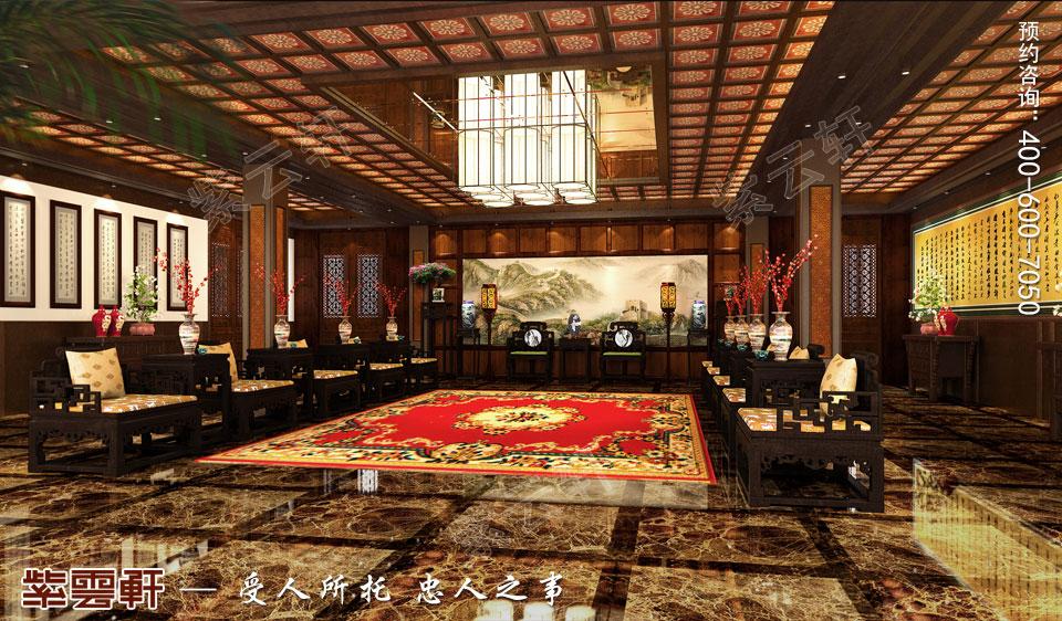 私人会所贵宾接待厅古典中式装修效果图