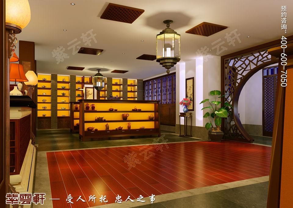 私人会所茶厅古典中式装修效果图