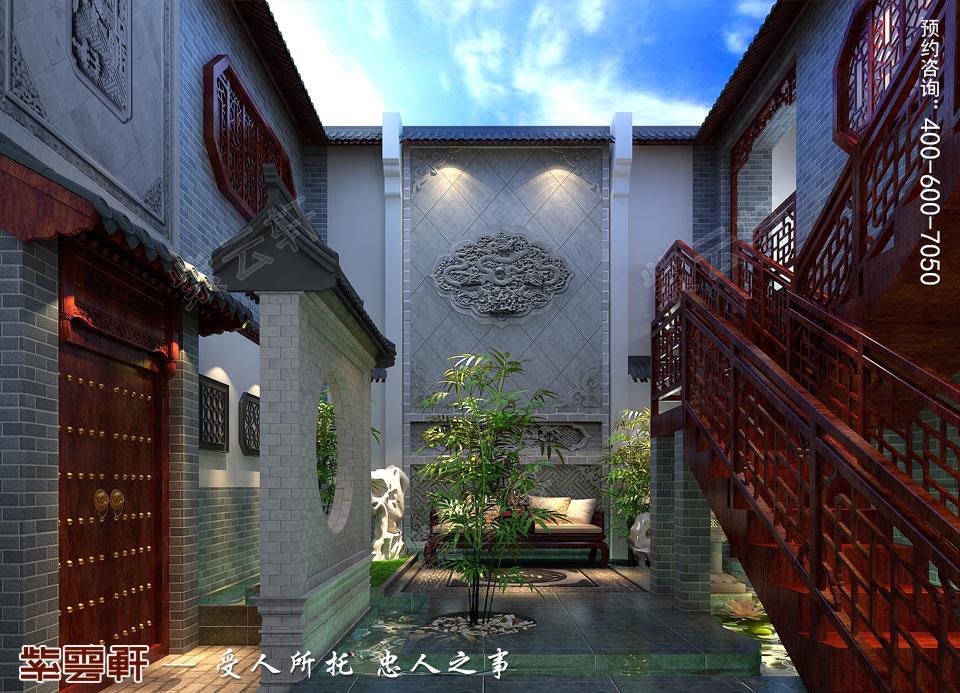 私人会所中空庭院高端豪华中式装修图