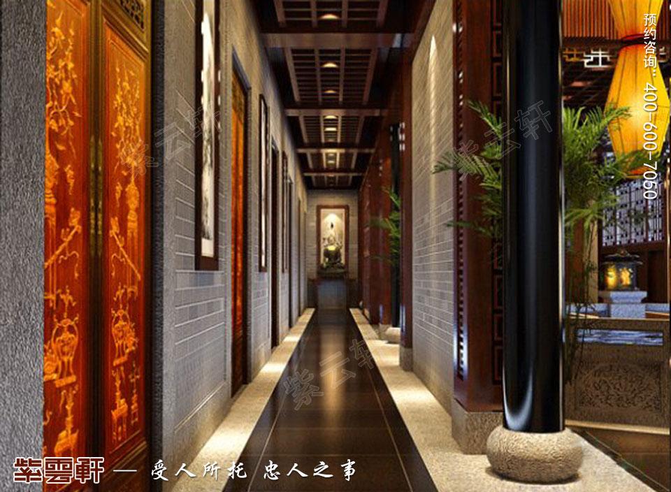 会所走廊古典中式装修图片