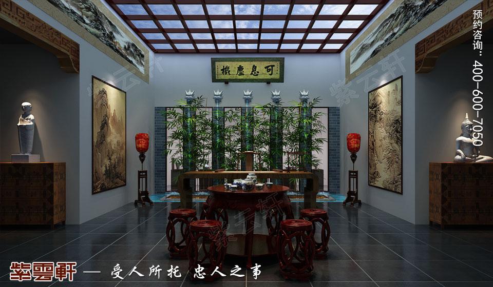 会所茶室古典中式装修图片