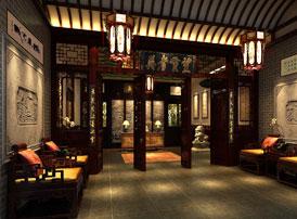 山东聊城餐饮私人会所古典中式装修效果图 把酒祝东风,且共从容