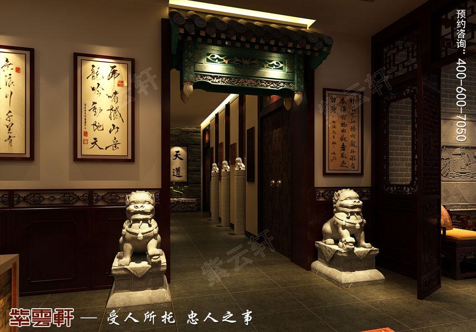 中式书房装修效果图如何设计,不庸人自扰,亦远离喧嚣