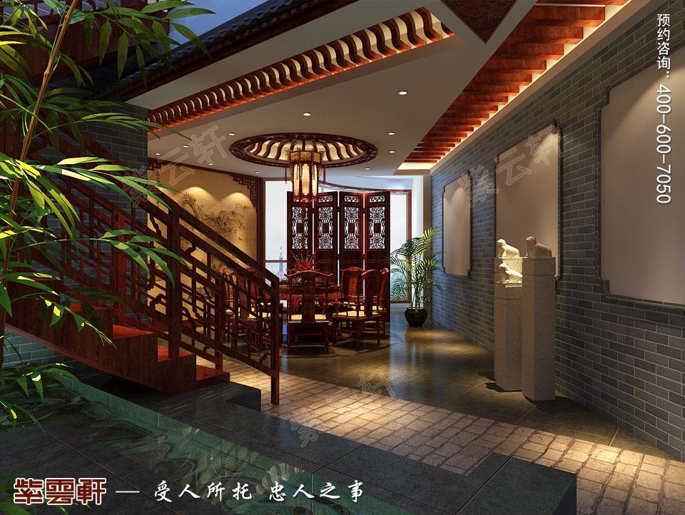 私人会所过厅高端豪华中式装修图