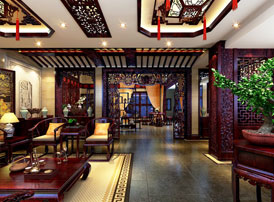 郑州私人会所高端豪华中式装修图,一处华贵大气、优雅宁静的诗意空间
