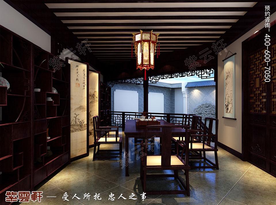 私人会所茶室高端豪华中式装修图