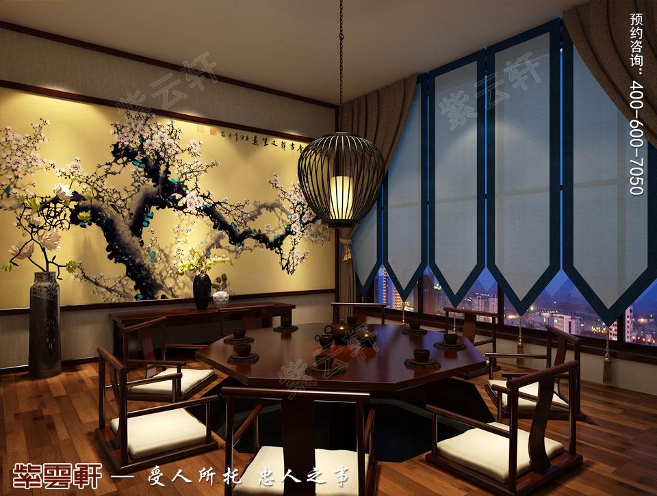 禅茶会所茶室现代中式风格装修效果图