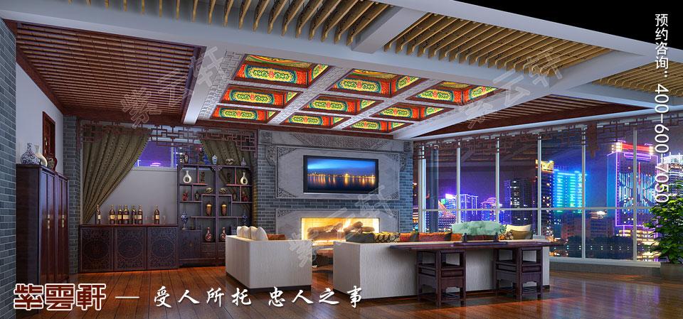 私人会所休闲区古典中式装修效果图