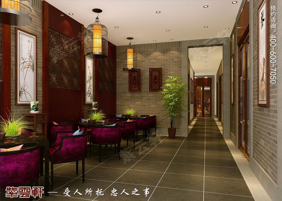 私人会所过厅古典中式装修效果图
