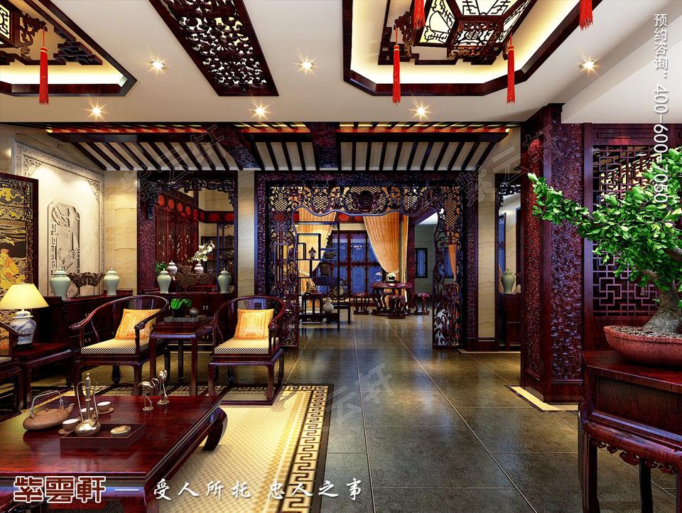 私人会所接待厅高端豪华中式装修图