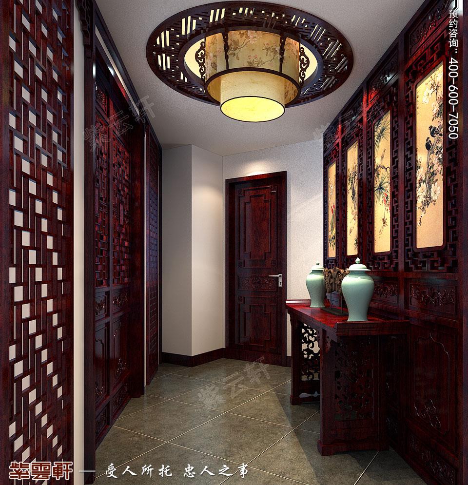 私人会所门厅高端豪华中式装修图