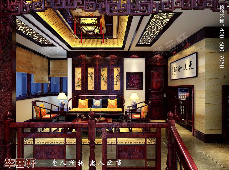 私人会所私密会客区高端豪华中式装修图