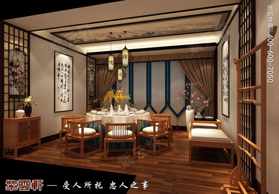 禅茶会所素斋房现代中式风格装修效果图
