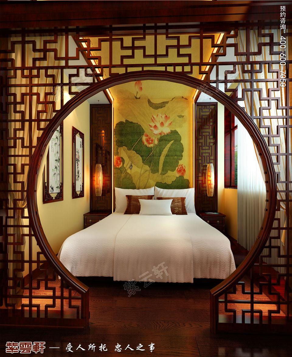 古典中式装修设计私人会所套房效果图
