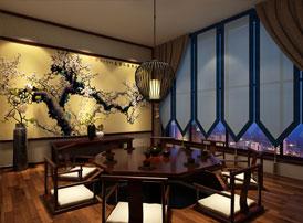 山西禅茶会所现代中式风格装修效果图,禅意袅袅 澄澈古朴