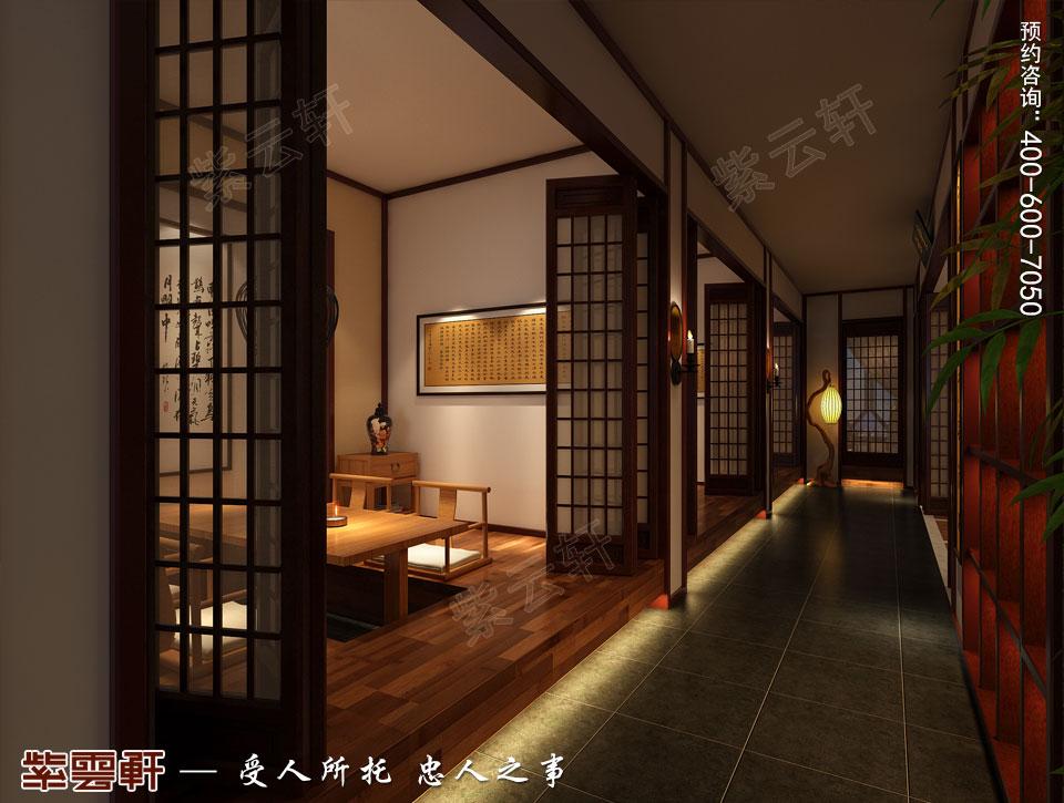 禅茶会所经室现代中式风格装修效果图