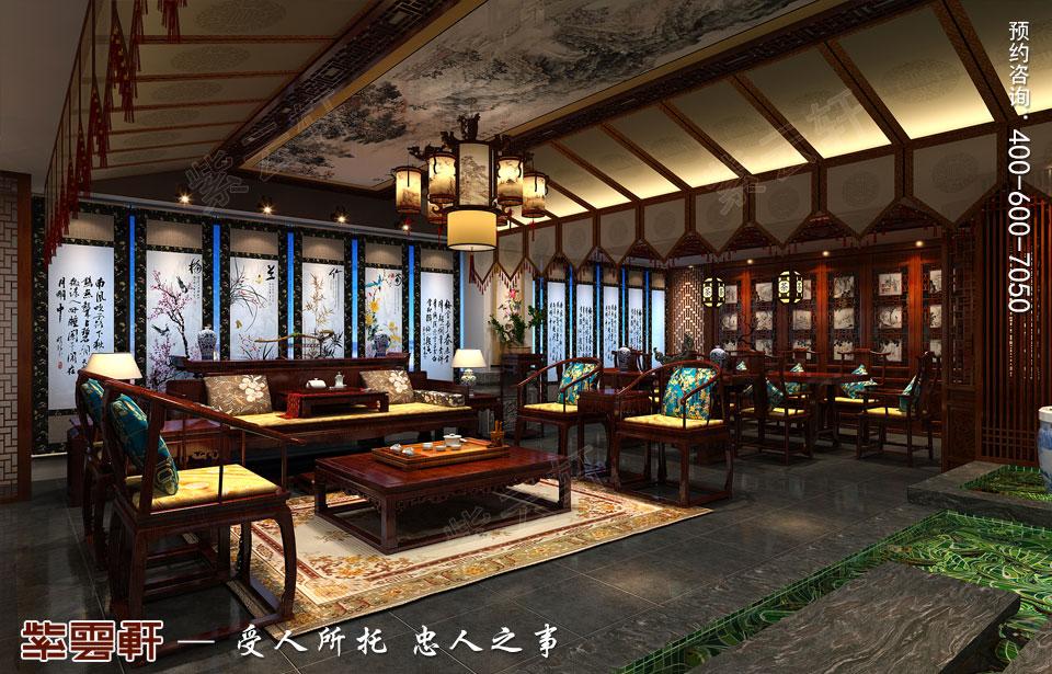 会所接待厅古典中式风格装修