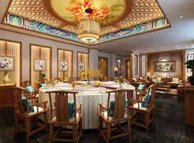 平谷私房菜餐饮会所中式风格装修效果图 蕴含优雅清幽的生活气息