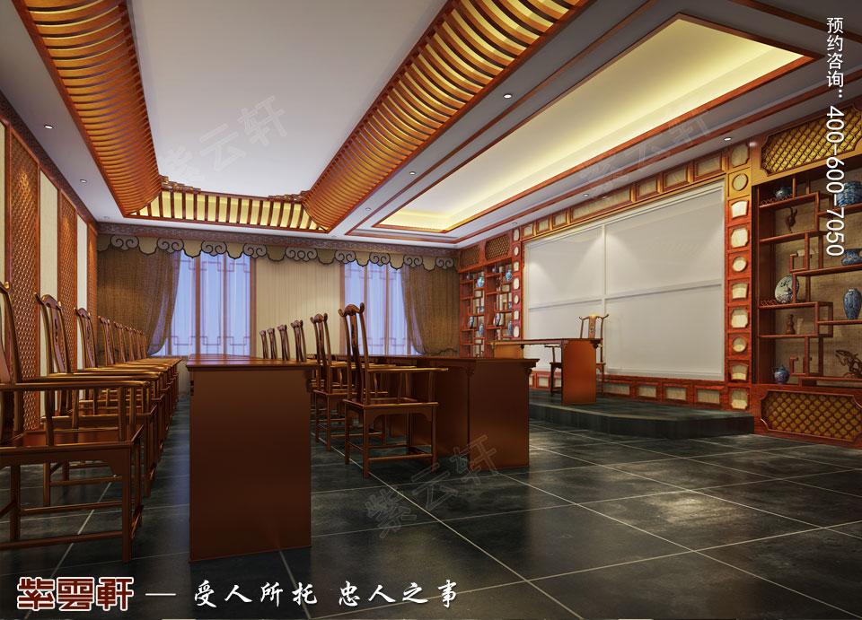 私人会所会议室田园中式装修图