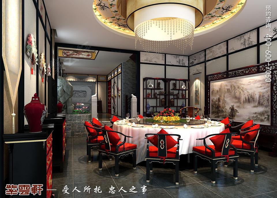 私人会所餐厅复古中式装修效果图
