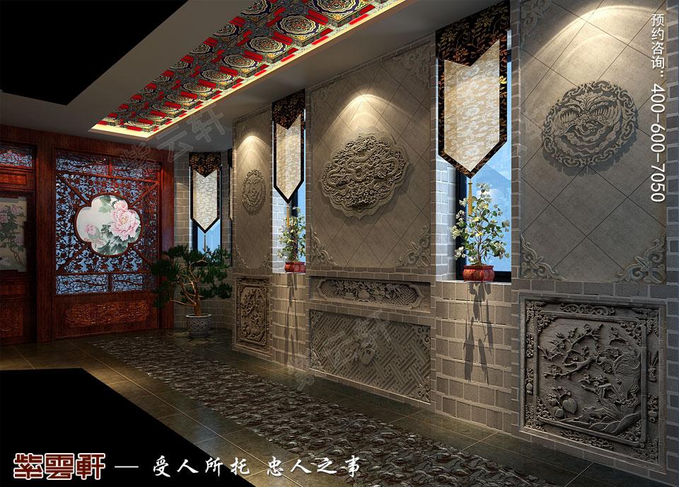 私人会所过廊复古中式装修效果图