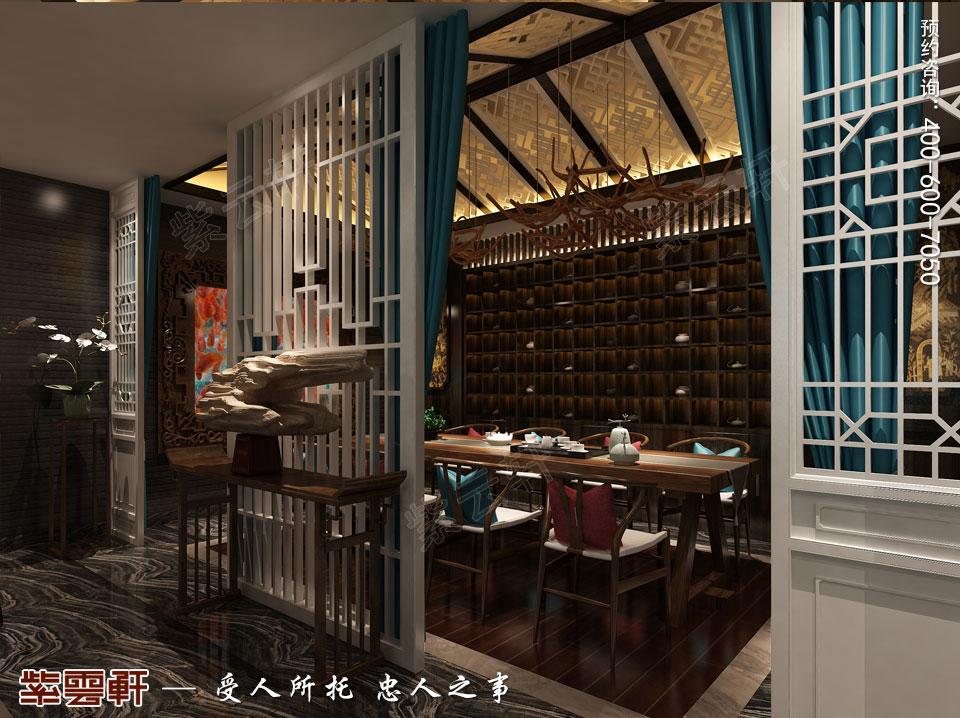 私人会所大茶室新中式风格装修