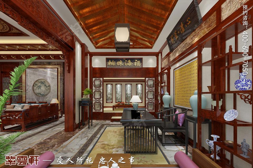 会所办公室古典中式风格装修