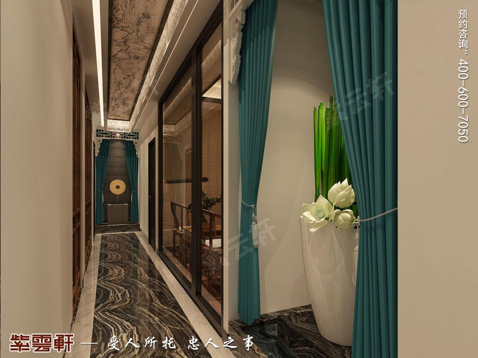 私人会所过道新中式风格装修