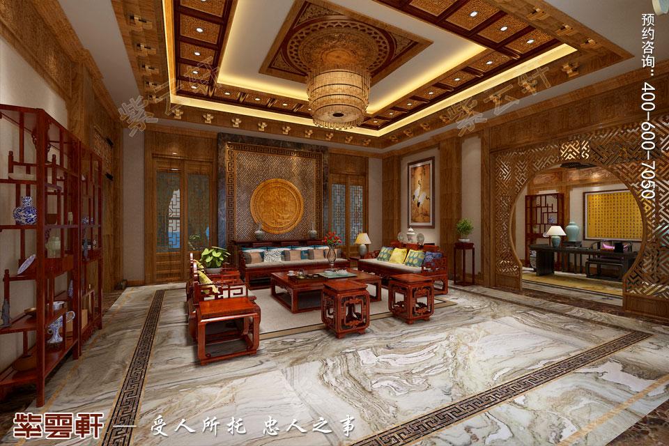 会所接待区古典中式风格装修