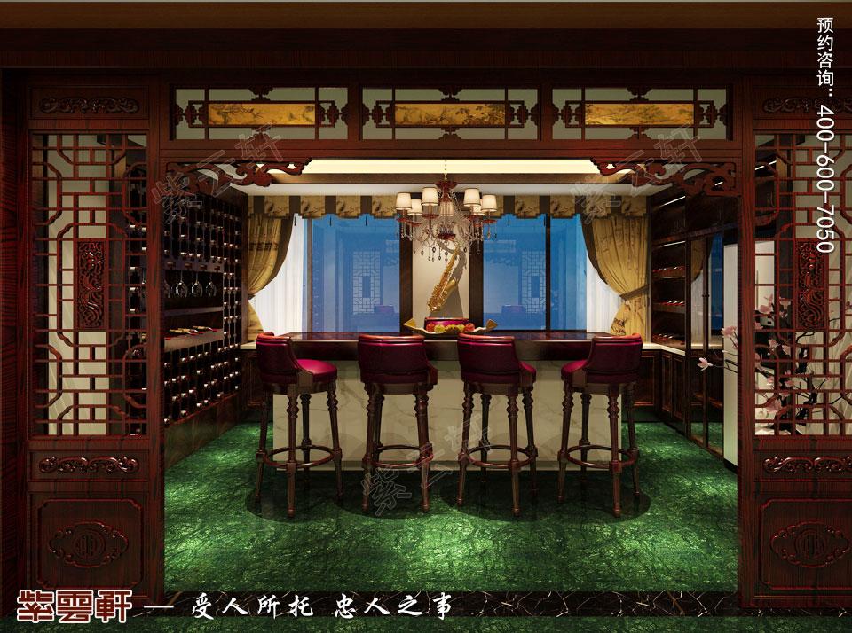 中式装修设计私人会所酒吧效果图