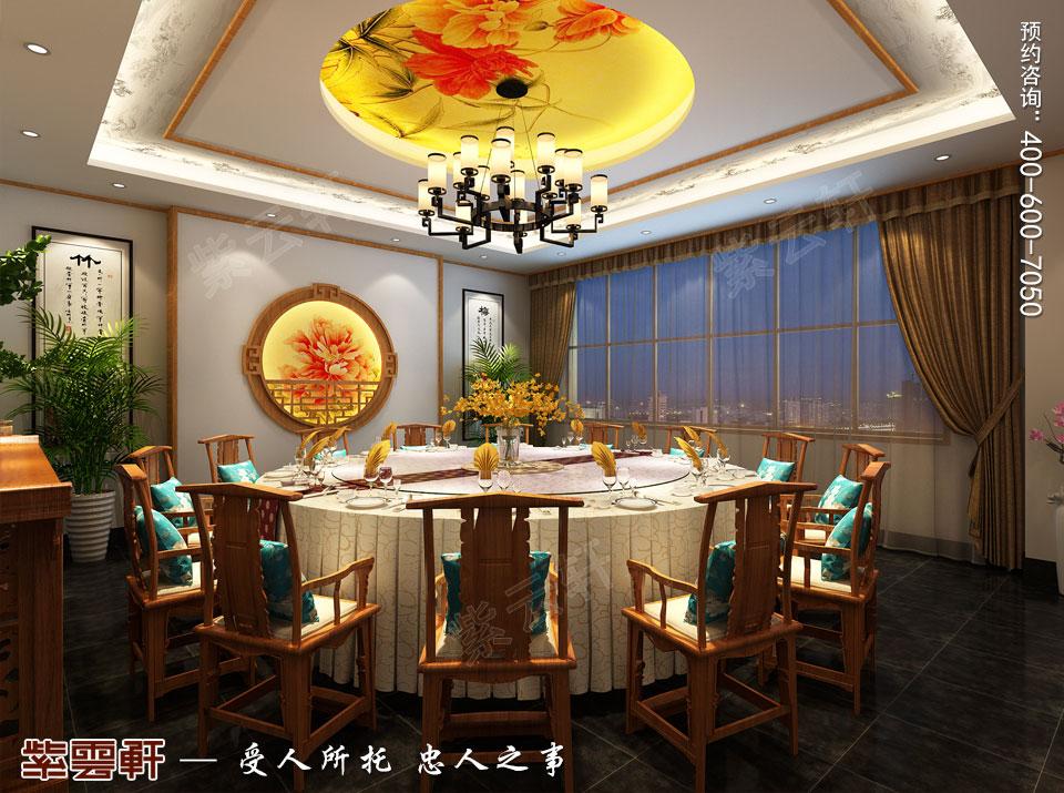 中式风格餐饮会所小包间效果图