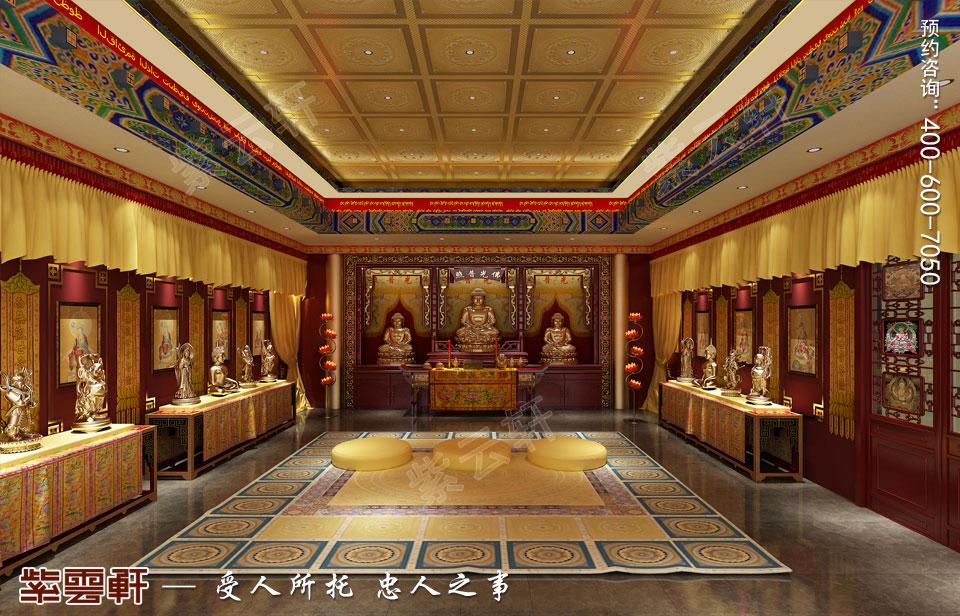 会所佛堂古典中式风格装修