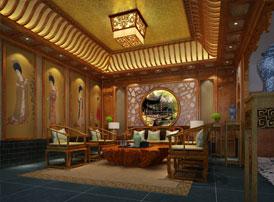 浙江永康私人会所古典中式装修风格 是古雅之风亦是意蕴之美