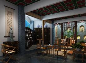 四川成都张总佛禅会馆古典中式装修案例  曲径通幽处,禅房花木深
