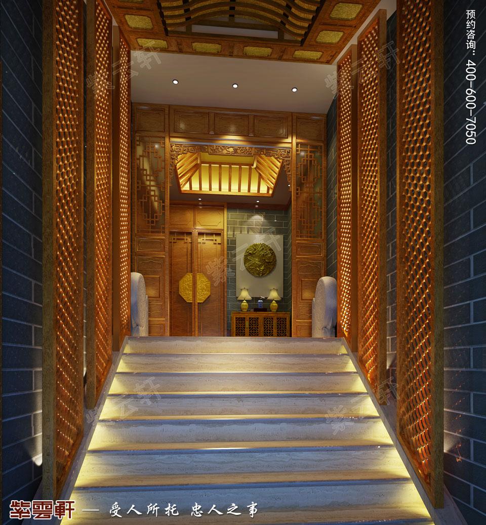 私人会所门厅古典中式装修风格