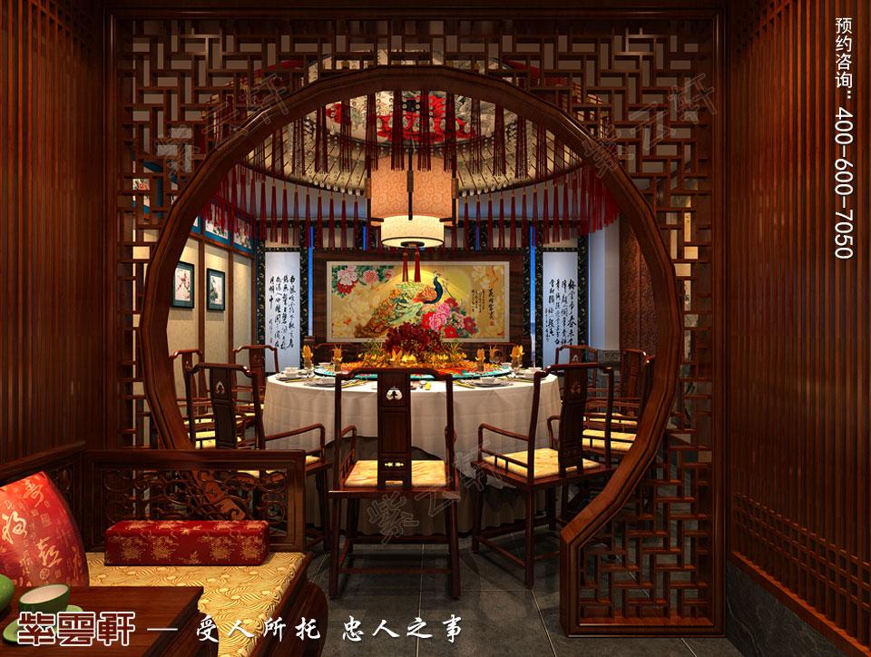 会所餐厅古典中式风格装修