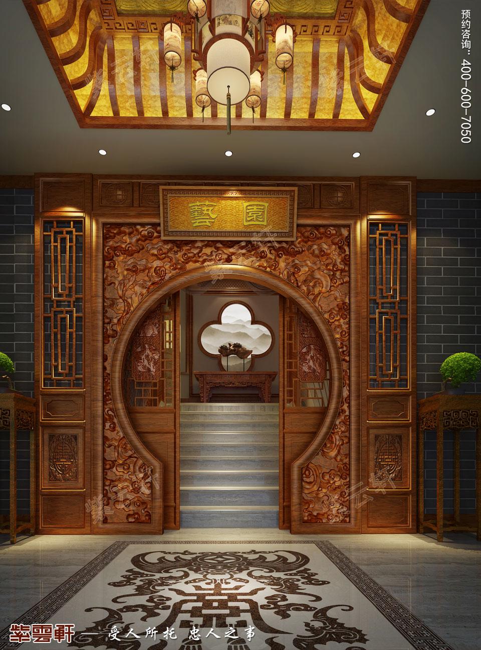私人会所前堂古典中式装修风格