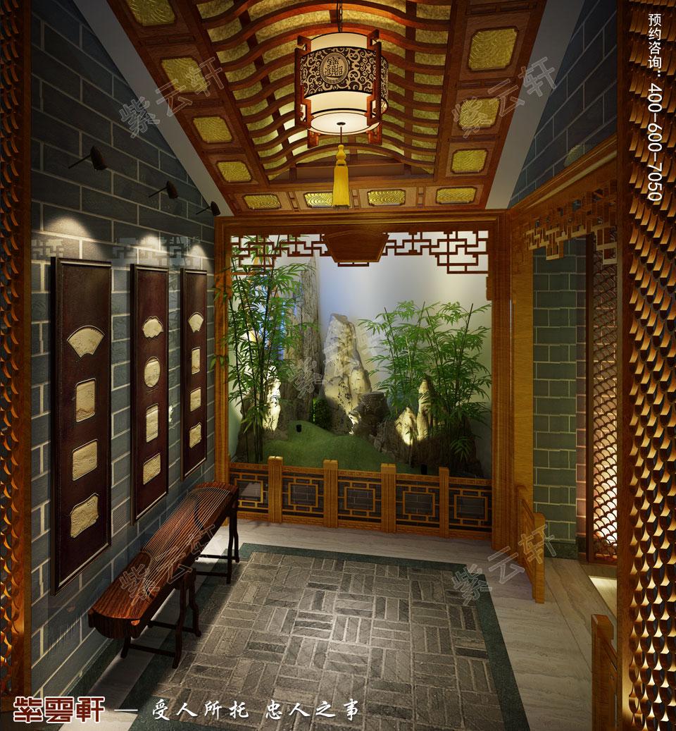 私人会所端景区古典中式装修风格