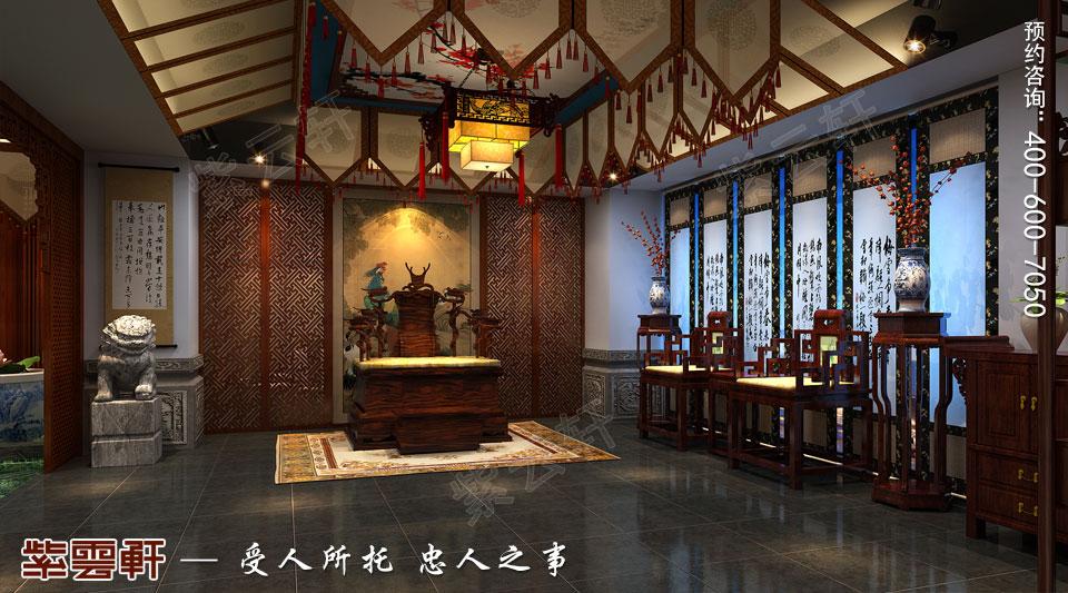 高端会所门厅<a href=http://www.bjzyxuan.com/gudianzhongshi/ target=_blank class=infotextkey>古典中式风格</a>装修
