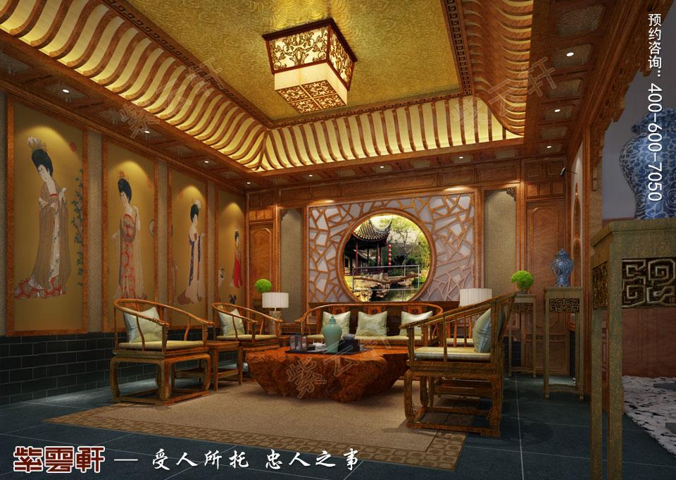 私人会所茶室古典中式装修风格