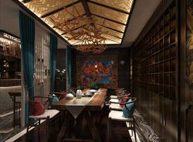 北京左安门私人会所新中式风格装修 风萧萧兮夜漫漫,且将新火试新茶