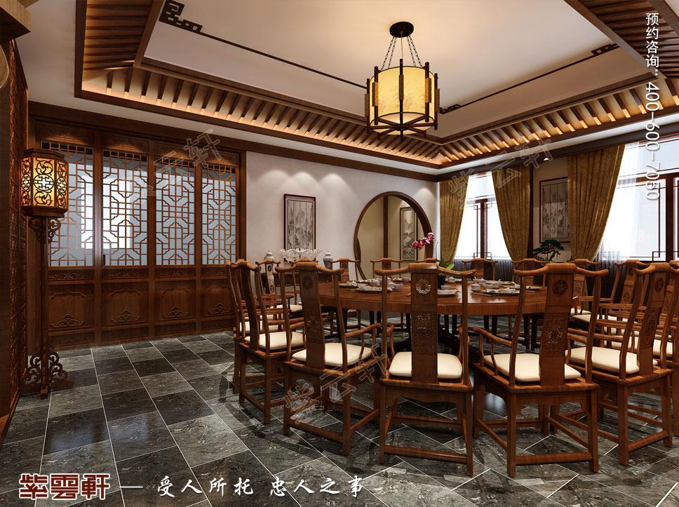 二层餐厅现代中式装饰效果图