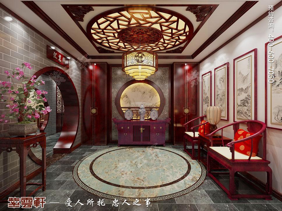 二楼门厅现代中式装饰效果图